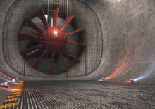 Giant Wind Tunnel With Steel F...