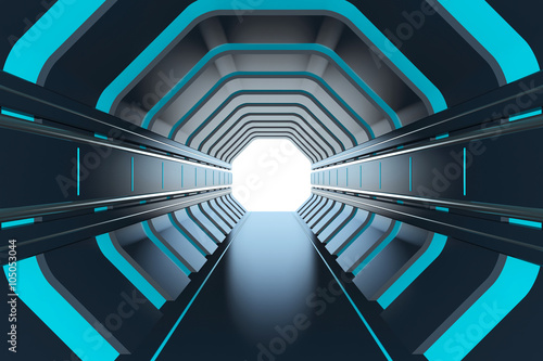 Futuristic tunnel