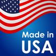 Icono plano MADE IN USA con bandera USA #3
