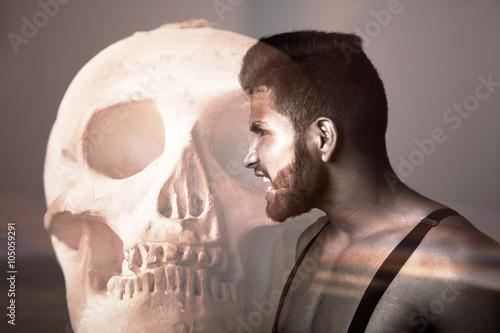 Fotografia, Obraz  Hombre desafiando a la muerte