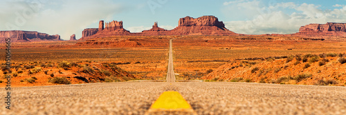 Fototapeta Open Road in Southwest United States obraz