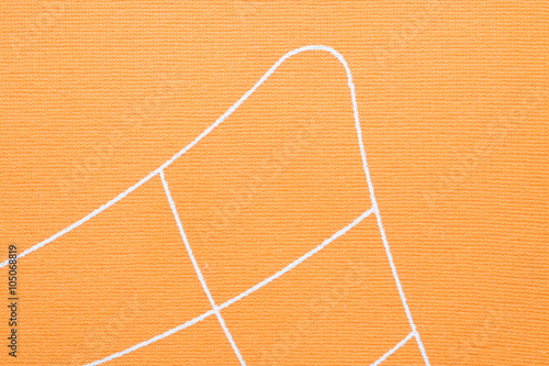 Valokuva  Orange fabric texture background