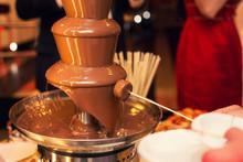 The Chocolate Fountain On A Ho...