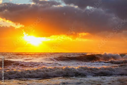 Fototapety, obrazy: Beautiful cloudscape over the sea