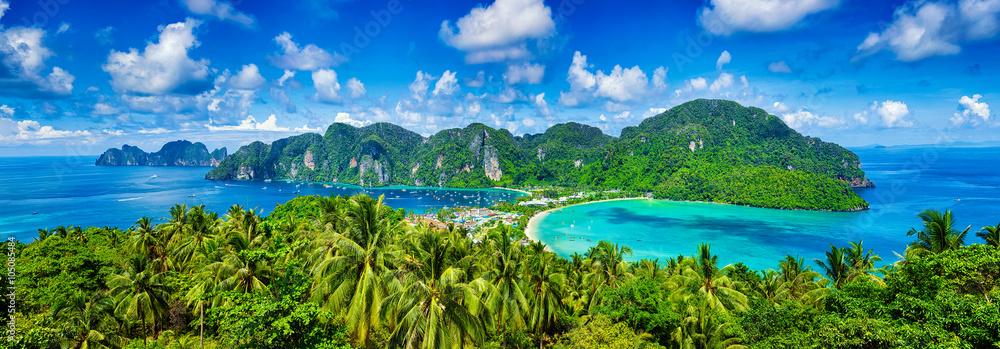 Fototapeta Panorama of tropical islands