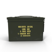 Metal Bullet Box Isolated On W...
