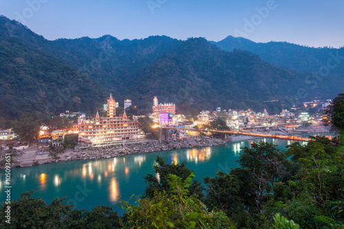 Photo Rishikesh at night