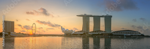 Photo  Singapore Skyline and view of Marina Bay