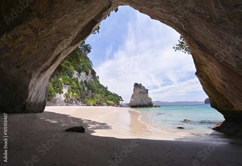 Spoed Foto op Canvas Cathedral Cove Cathedral Cove beach on Coromandel Peninsula