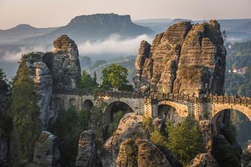 The Bastei bridge, Saxon Switzerland National Park, Germany