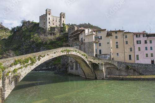 Fotografie, Obraz  Medieval village of Dolceacqua, Liguria, Italy