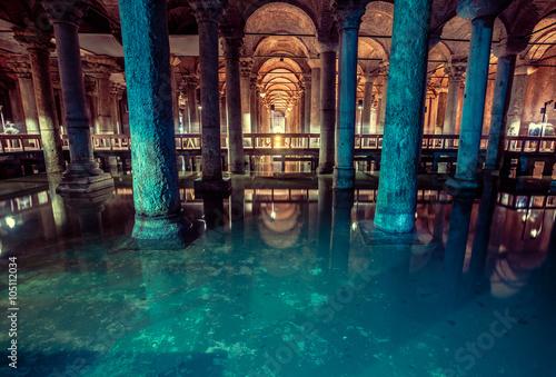Fotomural Basilica Cistern in Istanbul