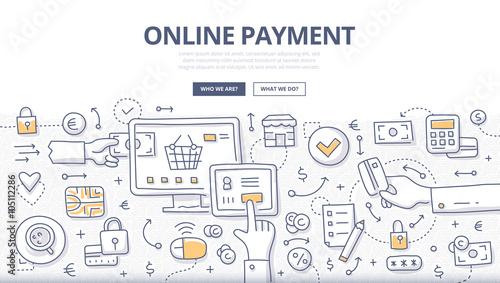 Fotografía  Online Payment Doodle Concept