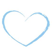Blue Heart Drawing Love Valentine