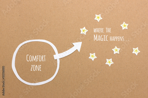 Fotografie, Obraz  Your comfort zone versus where the magic & success happens