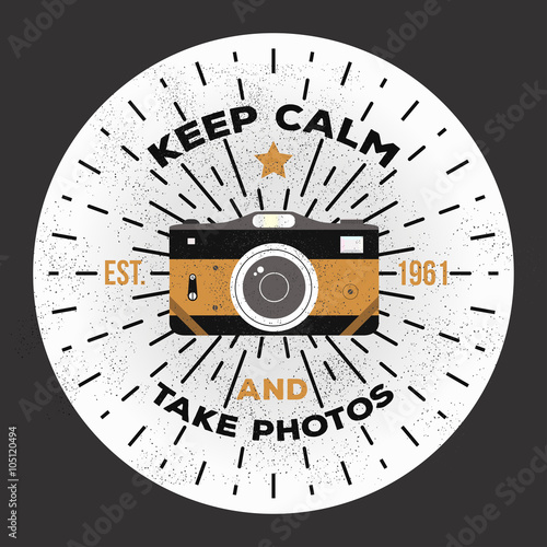Fototapeta Vintage retro camera illustration