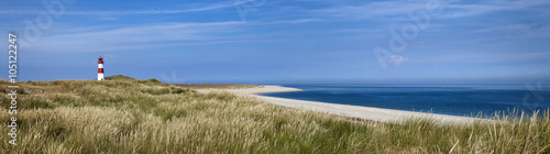 Poster Noordzee Sylt Ellenbogen Strand Panorama