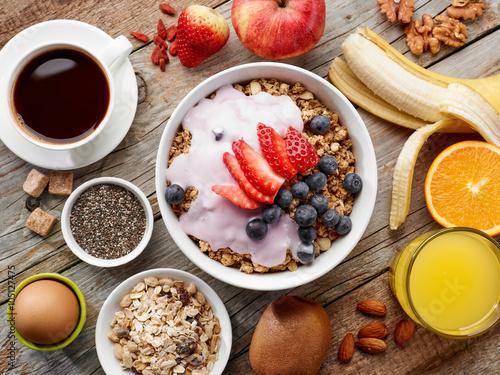 Fotografie, Obraz  healthy breakfast ingredients