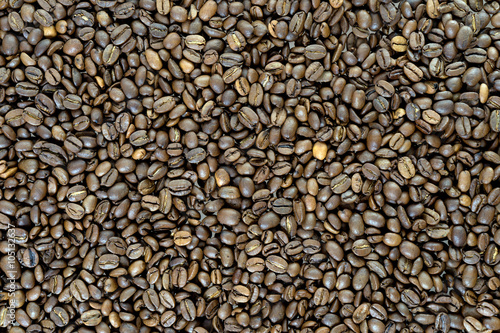Coffee beans background / close up of many Coffee beans #105132637