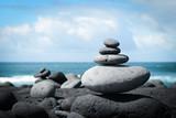 Fototapeta Kamienie - Auszeit am Meer