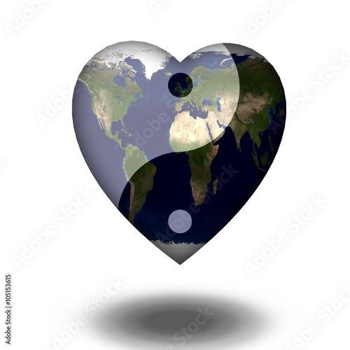 Plakat Ziemskie Serce Yin Yang