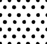 Grunge polka dot doodle seamless pattern - 105158625