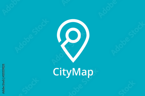 Map Point Location Logo City Locator Design Vector Template Pin Maps Symbol Gps Icon Simple Clean