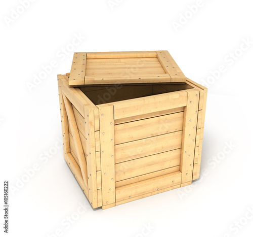 open wooden box isolated on white buy this stock illustration and