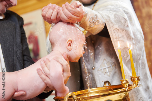 Fototapeta Christening religious sacrament