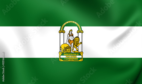 Flag of the Andalusia, Spain.