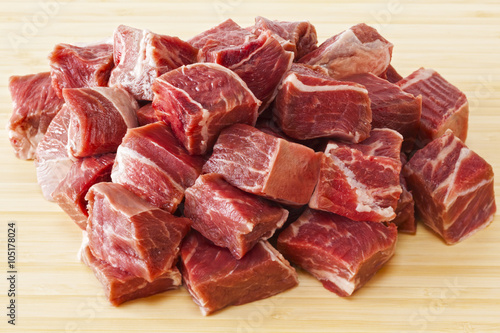 Beef Stew Meat Raw Poster