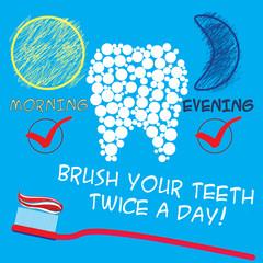 Panel Szklany Podświetlane Do dentysty Dental care concept