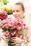 Bukiet z różowych goździków