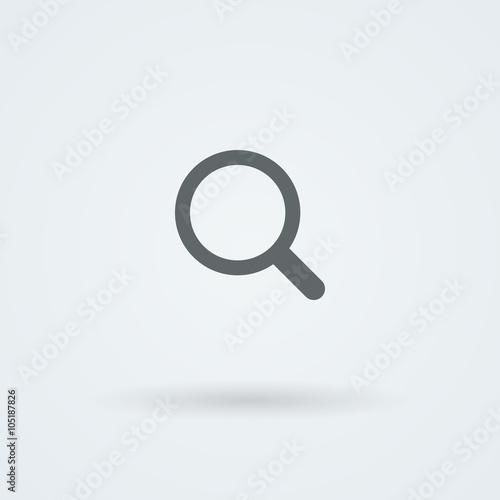 Carta da parati  Vector search icon. Glass Lens.