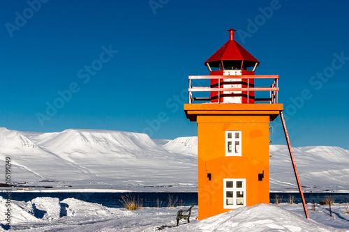 Fotografie, Obraz  Islandic Maják Akureyri