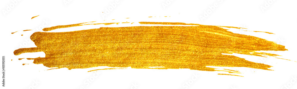 Fototapety, obrazy: Gold stain isolated on white background.