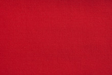 Close Up Of A Red Fabric Texti...