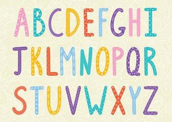 NaklejkaFunny long letters alphabet