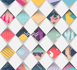Tapeta Abstract seamless geometric background