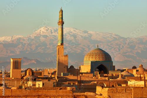 Fotografie, Obraz  Ancient city of Yazd in sunrise lights. Iran