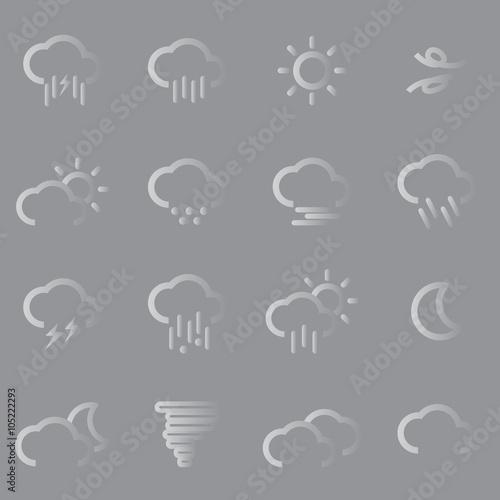 Fototapeta weather flat icons obraz na płótnie