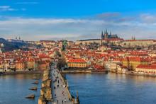 View Onto Prague Castle From Charles Bridge