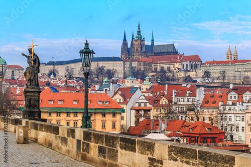 Staande foto Praag View onto Prague Castle from Charles Bridge