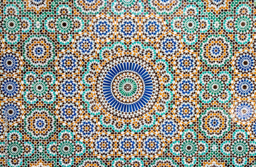 moroccan vintage tile background Canvas Print