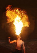 Fire Breather Circus Flame Sho...