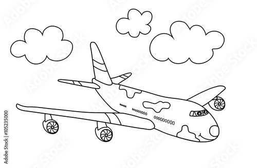 Flugzeug Malvorlage Buy This Stock Illustration And Explore