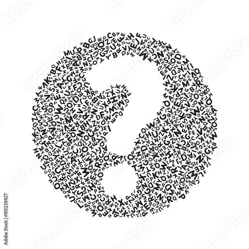 Fotografie, Obraz  White Question mark