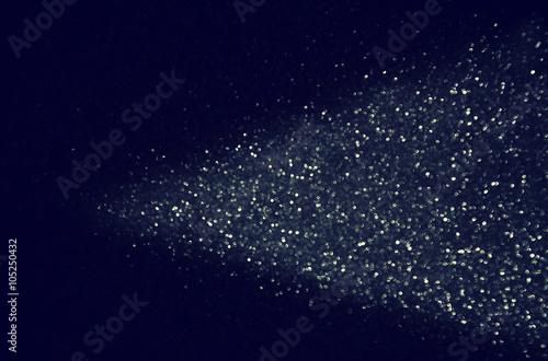 Fototapeta glitter vintage lights background. blue, silver and black. defocused.  obraz na płótnie