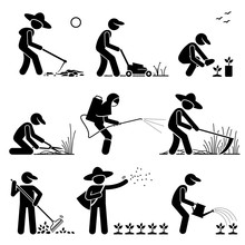 Gardener And Farmer Using Gard...