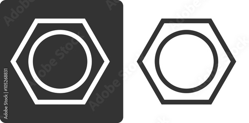 Benzene (C6H6) aromatic hydrocarbon molecule, flat icon style. Wallpaper Mural